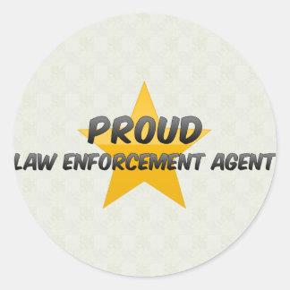 Proud Law Enforcement Agent Stickers