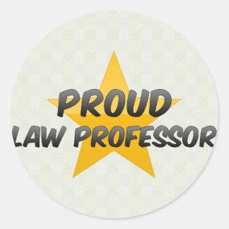 Proud Law Professor Round Stickers