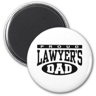 Proud Lawyer's Dad 6 Cm Round Magnet