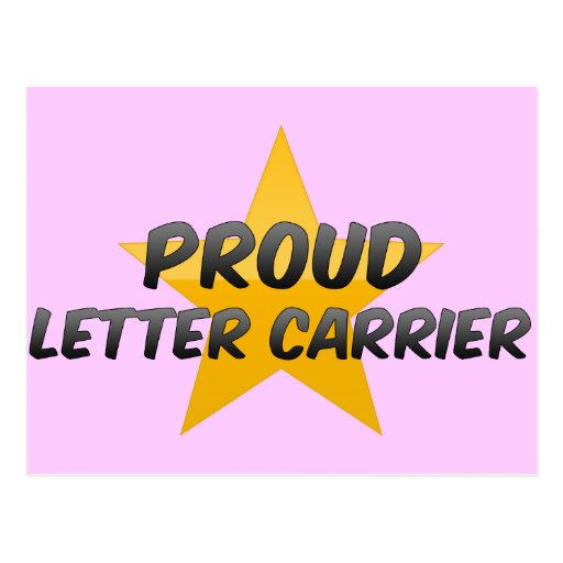 Proud Letter Carrier Postcard
