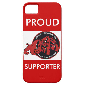 Proud Lewis & Clark Young Marines Supporter (Red) iPhone 5 Cover