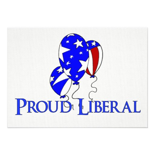 Proud Liberal Personalized Announcements