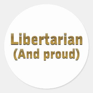 Proud Libertarian Stickers