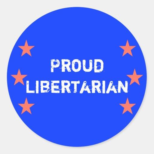 Proud Libertarian Sticker