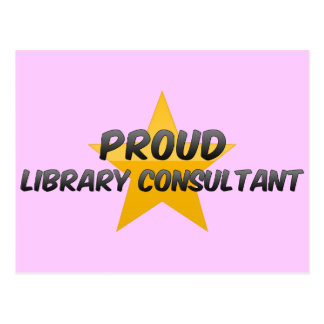 Proud Library Consultant Postcard