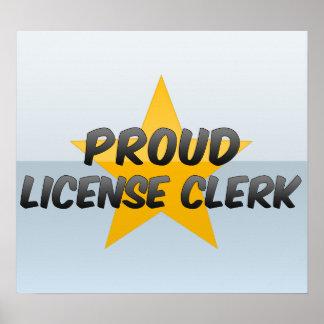 Proud License Clerk Posters