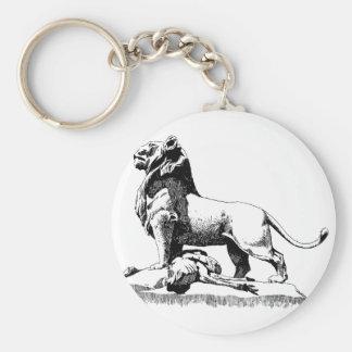 Proud Lion Basic Round Button Key Ring