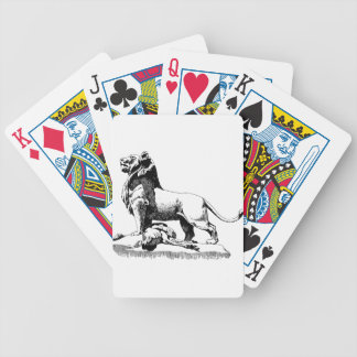 Proud Lion Bicycle Playing Cards