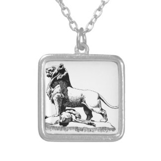 Proud Lion Silver Plated Necklace