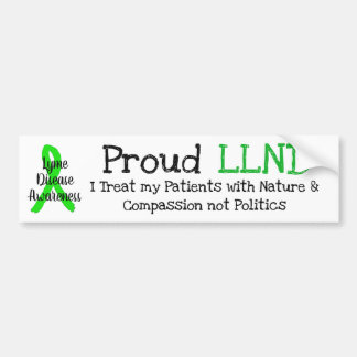 Proud LLND Lyme Disease Awareness Bumper Sticker