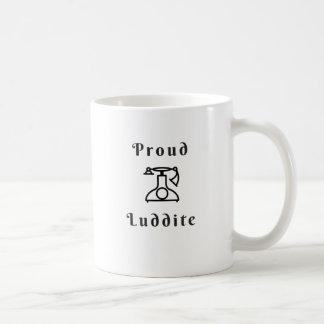 Proud Luddite With Old-Timey Phone Coffee Mug