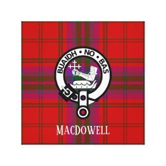 Proud MacDougall Plaid and Crest Canvas Print