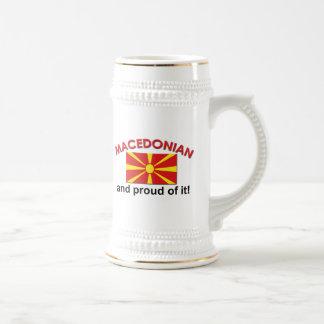 Proud Macedonian Beer Stein