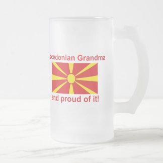 Proud Macedonian Grandma Frosted Glass Beer Mug