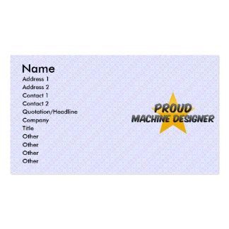 Proud Machine Designer Business Card