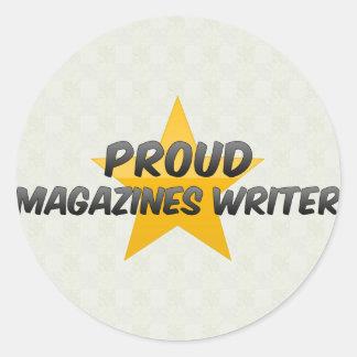 Proud Magazines Writer Round Sticker