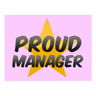 Proud Manager Postcards