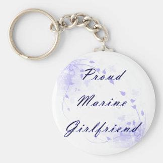 Proud Marine GF Basic Round Button Key Ring