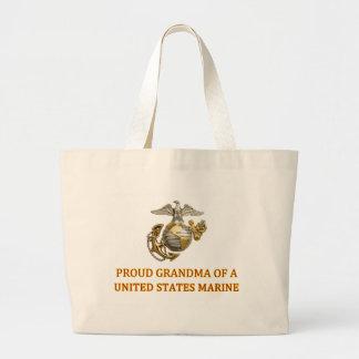 Proud Marine Grandma Bag
