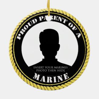Proud Marine Parent Ceramic Ornament