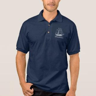 Proud Maritimer  nautical Nova Scotia ship polo