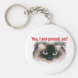 Proud Max Basic Round Button Key Ring