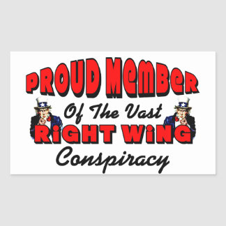 Proud Member Of Right Wing Conspiracy Rectangular Sticker