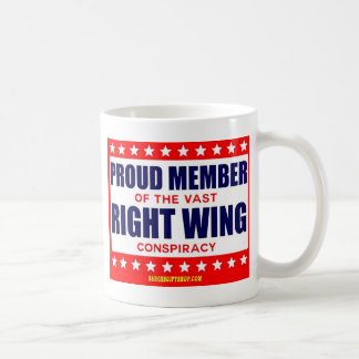 PROUD MEMBER OF THE VAST RIGHT WING CONSPIRACY BASIC WHITE MUG