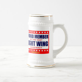 PROUD MEMBER OF THE VAST RIGHT WING CONSPIRACY BEER STEINS