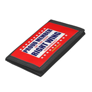 PROUD MEMBER OF THE VAST RIGHT WING CONSPIRACY TRI-FOLD WALLETS