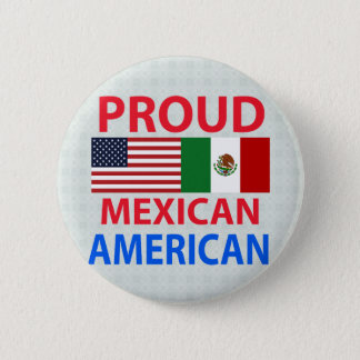Proud Mexican American 6 Cm Round Badge
