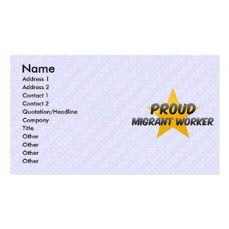 Proud Migrant Worker Business Card Template
