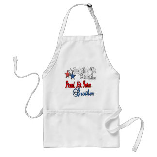 Proud Military Brother Adult Apron