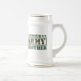 Proud Military Brother Beer Stein Coffee Mugs