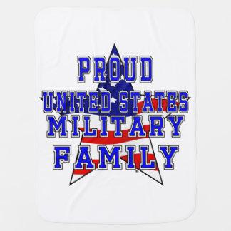 Proud Military Family Baby Blanket - White