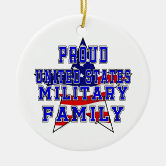 Proud Military Family Round Ornament