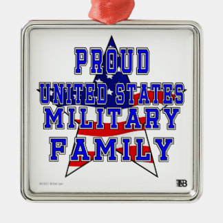Proud Military Family Square Ornament
