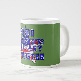 Proud Military Supporter Jumbo Mug - Green