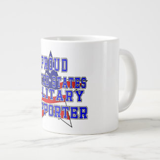 Proud Military Supporter Jumbo Mug - White