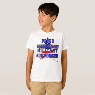 Proud Military Supporter Kids' Tee - White