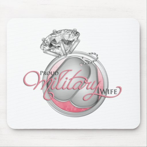 Proud Military Wife Mouse Mat