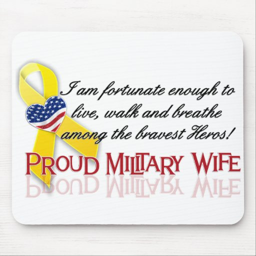 Proud Military Wife Mouse Pads