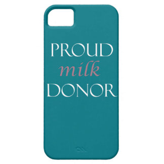 Proud milk donor pink and white writing barely there iPhone 5 case