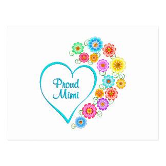 Proud Mimi Heart Postcard