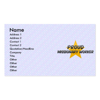 Proud Missionary Worker Business Card