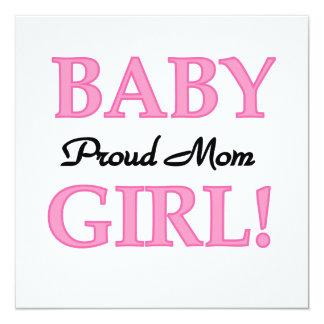 Proud Mom Baby Girl Gifts Custom Invites
