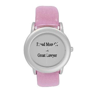 Proud Mom Of A Great Lawyer Wrist Watch