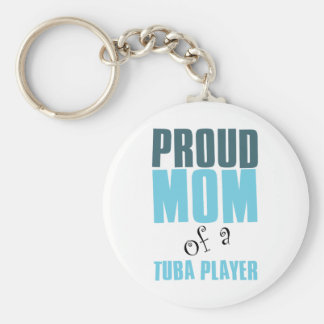Proud Mom of a Tuba Player Key Ring