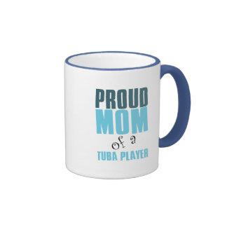 Proud Mom of a Tuba Player Ringer Mug