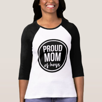 Proud Mom of Boys Raglan T-Shirt